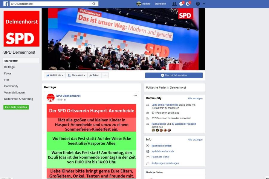 SPD Delmenhorst auf Facebook