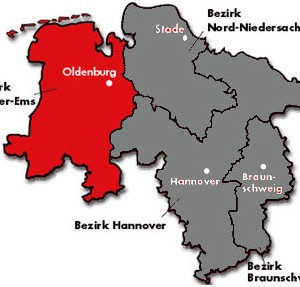 Karte SPD-Bezirk Weser-Ems