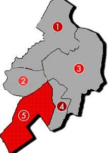 Karte OV 5 -- Ortsverein Düsternort-Adelheide