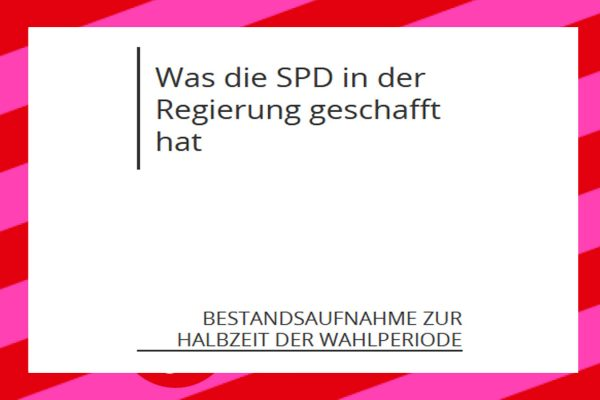 Halbzeitbilanz der SPD